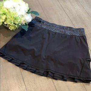 Lululemon Running Skort w/ compressions shorts sz4